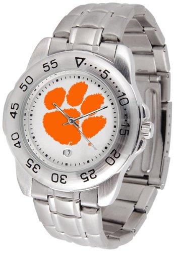 (SunTime Clemson Tigers Sport Steel Band Men's Watch)