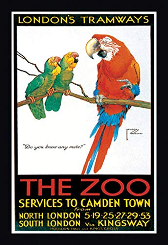 Buyenlarge The Zoo London's Tramways Services to Camden Town by Lawson Wood Wall Decal, 48