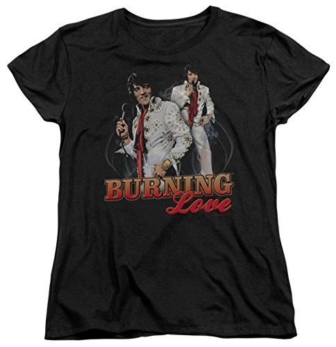 Womens: Elvis Presley - Burning Love Ladies T-Shirt Size XL -