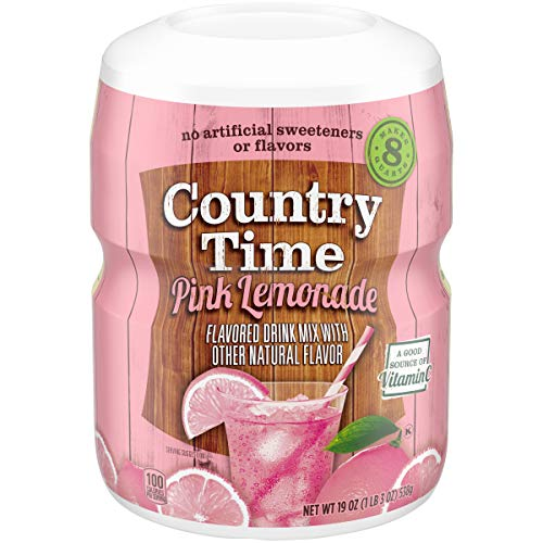 Country Time Pink Lemonade Drink Mix, 19 oz Jar
