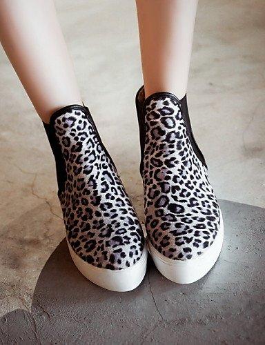 Brown Xzz 5 Amarillo 5 A Vellón Zapatos Moda Uk5 Redonda Mujer Botas Casual Vestido De Uk6 Plataforma us7 Cn39 Eu38 Cn38 us8 La Gray Punta marrón Eu39 rr6B4Rq7
