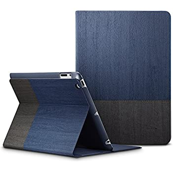ESR iPad 2/3/4 Case, Urban Series Premium Folio Case, Book Cover Design, Multi-Angle Viewing Stand, Smart Cover Auto Sleep/Wake Function for Apple iPad 2/ iPad 3/ iPad 4(Knight Blue)