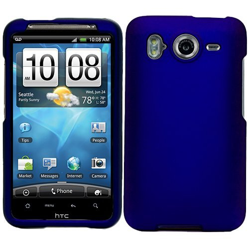 outlet store d35d9 8e9b0 Blue Durable Protective Rubberized Crystal Hard Case Cover for AT&T  Wireless HTC Inspire 4G Android Smart Phone