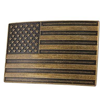 """NPET USA Flag Belt Buckle for Men and Women (Fit 1.5"""" belt)"""