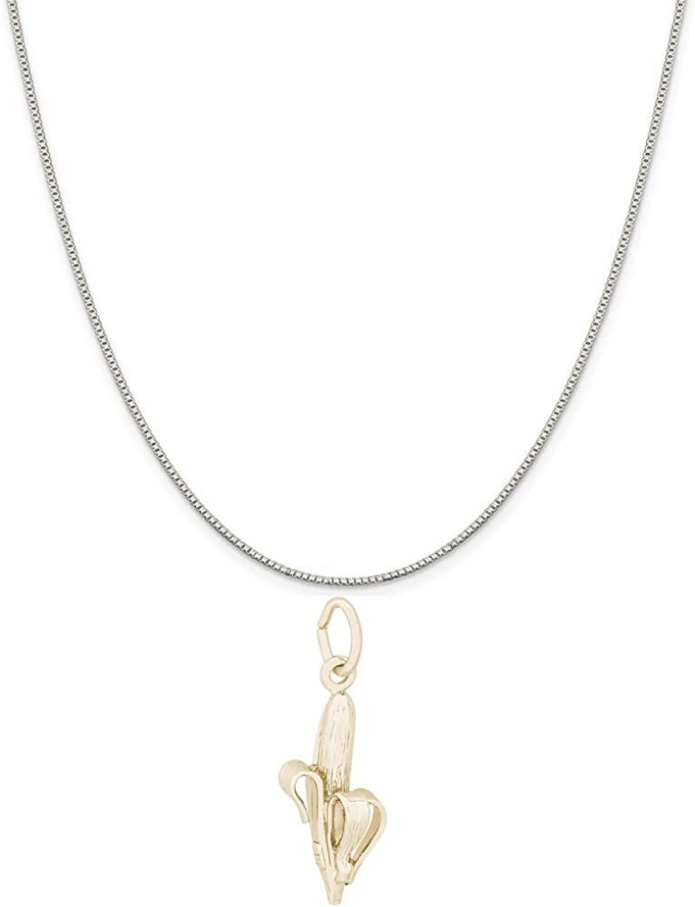 Mireval Sterling Silver Palm Tree Charm on a Sterling Silver Chain Necklace 16-20
