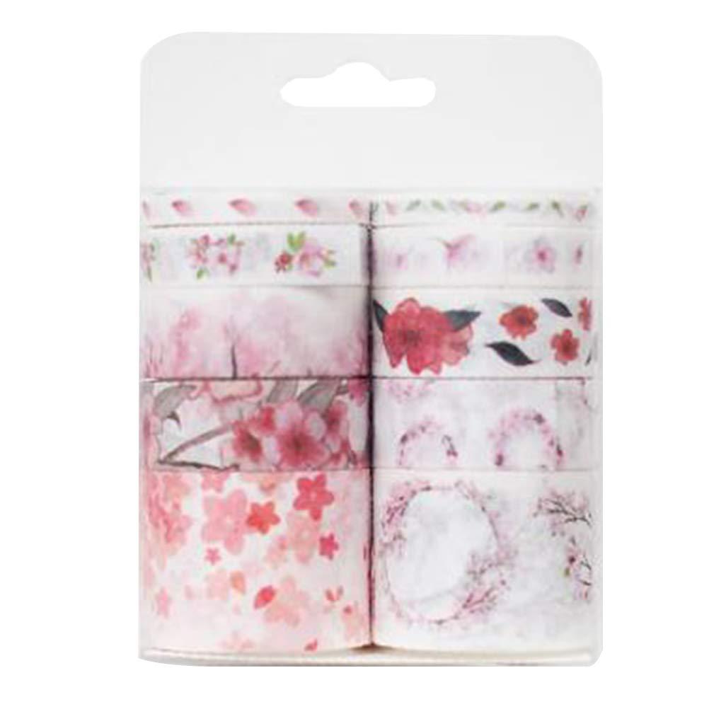 Toyvian 10 unids cintas adhesivas washi cintas adhesivas de papel para el libro de recuerdos diario de bricolaje regalo envoltura