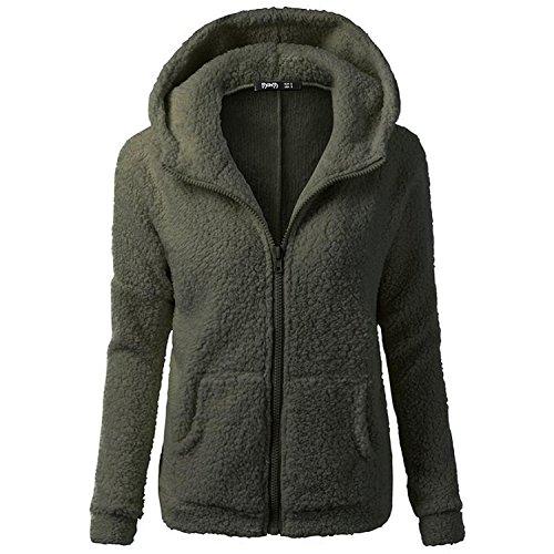smartland-womens-winter-long-sleeve-full-zip-soft-fleece-hooded-jumper-hoody-jacket-coat-xl-olive