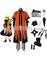 Naruto 6th Hokage Naruto Uzumaki Cosplay Costume new