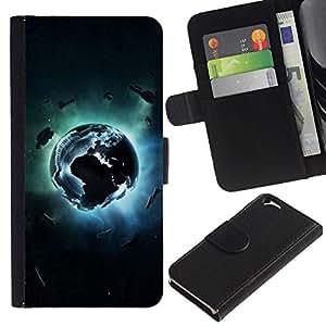 All Phone Most Case / Oferta Especial Cáscara Funda de cuero Monedero Cubierta de proteccion Caso / Wallet Case for Apple Iphone 6 // Planet Explosion
