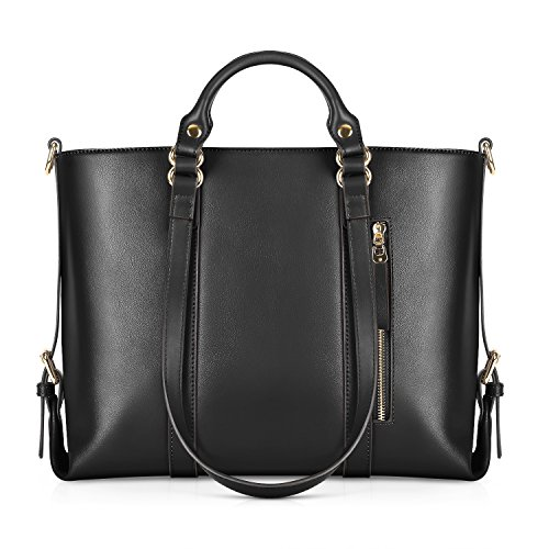- Kattee Urban Style 3-Way Women's Genuine Leather Shoulder Tote Bag (Black)