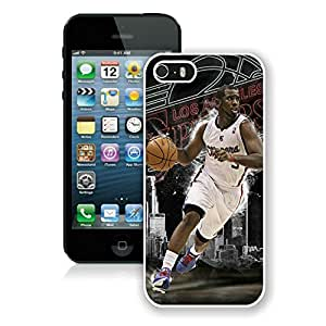 New Custom Design Cover Case For iPhone 5s Generation LA Clippers Chris Paul 4 White Phone Case