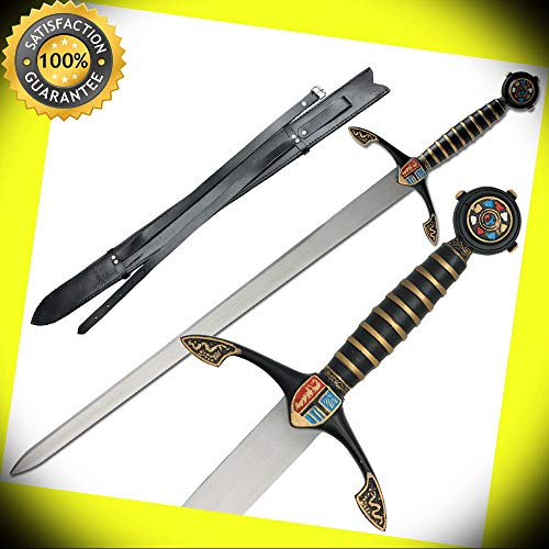 Medieval Black Prince Edward of Woodstock Crusader Knight Renaissance Sword perfect for cosplay outdoor camping