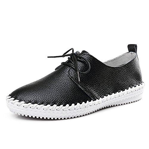 Des A En Cuir Petits version Loisirs Coréenne Printemps Chaussures chaussures Blanc Automne Articles Talon chaussures Plates De Plat qRT8H