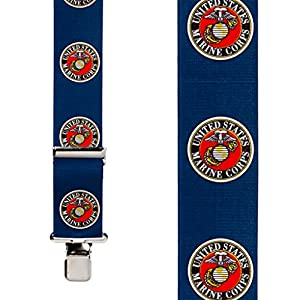 SuspenderStore Men's US Marines Military Suspenders