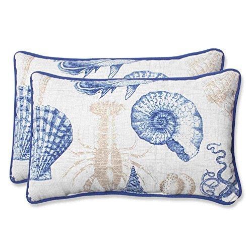 Pillow Perfect Outdoor Sea Life Marine Rectangular Throw Pillow, Set of 2