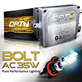 OPT7 Bolt AC HID Kit 4x Brighter - 6x Longer Life - All Colors and Sizes Simple DIY Install - 2 Yr Warranty - Bulbs and Ballasts [H13 Bi-Xenon - 5K Pure White Light]