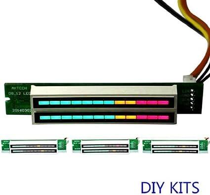 DP-iot Dual 30-bit Full Color LED Audio Level Indicator Panel VU Meter for Amplifer