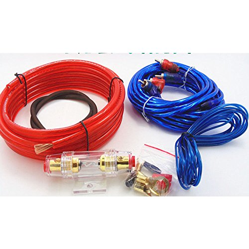 Eaglerich Universal Car Auto Complete Amplifier Wiring Kit Gauge for Speakers ()
