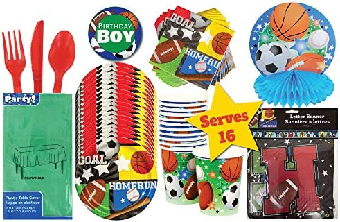 Party Tableware Home Furniture Diy Sports Fanatic Basketball 7