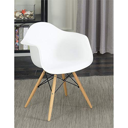 Furniture of America Ashton Mid-Century Arm Chair (Set of 2) in White ()