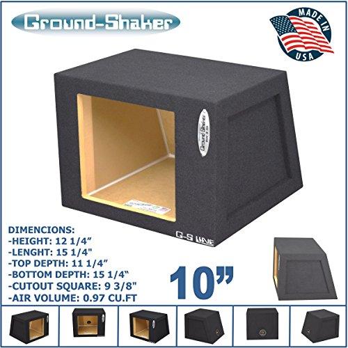 """10"""" Single Sealed Solobaric Sub Box L7 L5 L3 Square Subwo..."""