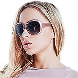 Polarized Sunglasses for Women, AkoaDa UV400 Lens Sunglasses for Female Fashionwear Pop Polarized Sun Eye Glass(Champagne)