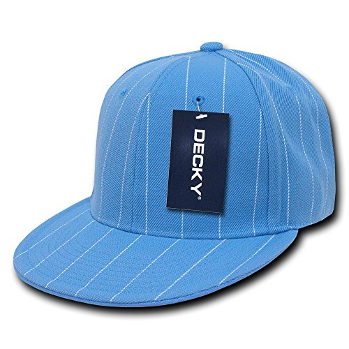 DECKY Pin Striped Fitted Cap, Royal, 6 7/8