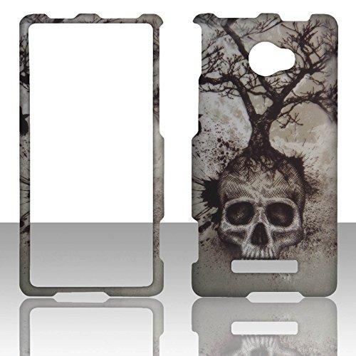 2D Tree Skull HTC Windows Phone 8X / Accord / Zenith 6990 AT&T , T-Mobile , Verizon Hard Case Snap-on Hard Shell Protector Cover Phone Hard Case Case Cover Faceplates (Htc Verizon 8x)