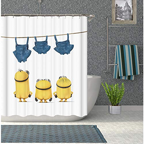 Kids Shower Curtain Cartoon Bathroom Curtains Waterproof Bath Quick Drying (Kids Shower Curtain)