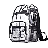 Youndcc Clear Backpack Security Backpack School Backpack Outdoor Backpack, Transparent/Waterproof/Multi-pockets/Lightweight/NFL Stadium Approved