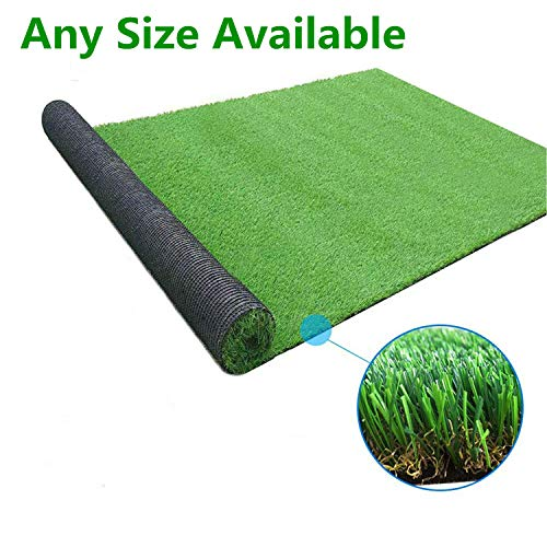 GL Artificial Grass Mats Lawn Carpet Customized Sizes, Synthetic Rug Indoor Outdoor Landscape, Fake Faux Turf for Decor 8FTX8FT(64 Square FT)
