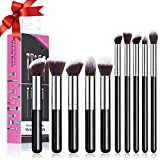 chimocee Makeup Brushes, Chimocee 10 Pcs Professional Makeup Brush Set, Premium Synthetic Fiber Bristles Cosmetics Foundation Blending Blush Eye Shadow Face Powder Brush with a Exquisite Box