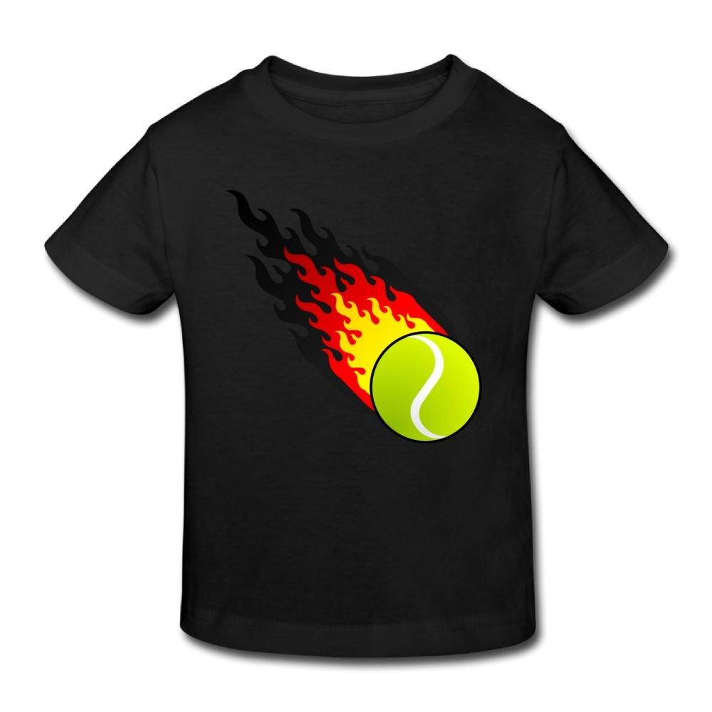 Wiongh Opp Short Sleeves T-Shirts Fireball Tennis Germany Childrens//Toddler For Girls-Boy