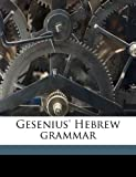Gesenius' Hebrew Grammar, Wilhelm Gesenius and E. 1841-1910 Kautzsch, 1176644777