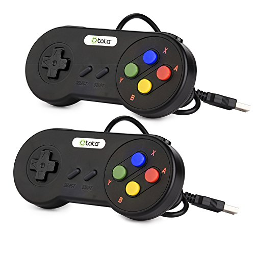 2 Pack SNES USB Super Nintendo Controller,kiwitatá Retro ...