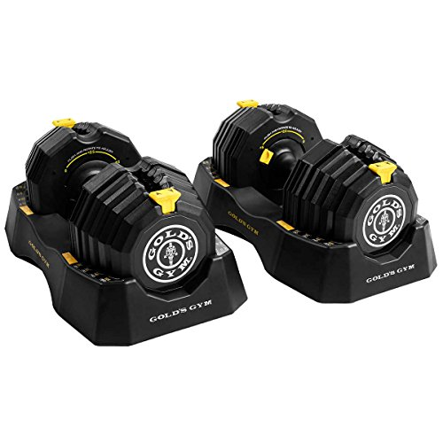 Golds Gym 110 lb. Select-A-Weight Dumbbell Set by GoldsGymWeight