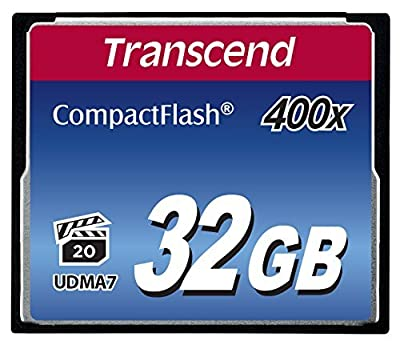 Transcend 400X - Compact Flash Memory Card TSGCF400 (Blue) from TRANSCEND