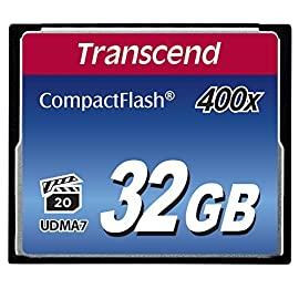 Transcend 400X - Compact Flash Memory Card TSGCF400 (Blue) 148 R/W Speeds: 90/45 MB/s Support high-end DSLR Ultra-fast 400X performance with four-channel support