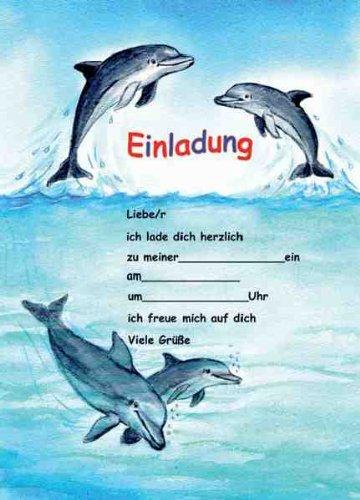 Delfine Delphine Einladungen Geburtstag Kindergeburtstags Einladungen  12er Set: Amazon.de: Bürobedarf U0026 Schreibwaren