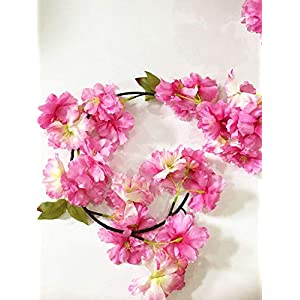 Artfen Artificial Cherry Blossom Hanging Vine Plants Faux Garland Fake Wreath Artificial Flower Home Hotel Office Wedding Party Garden Craft Art Decor 5.8 FT 3