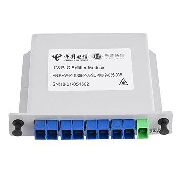 0e23ea8a41 Splitter de Fibra óptica PLC, Ramas de Fibra, 1 x 8, Tarjeta de Casete de  inserción, módulo Divisor PLC, Divisor de Fibra óptica.: Amazon.es:  Electrónica