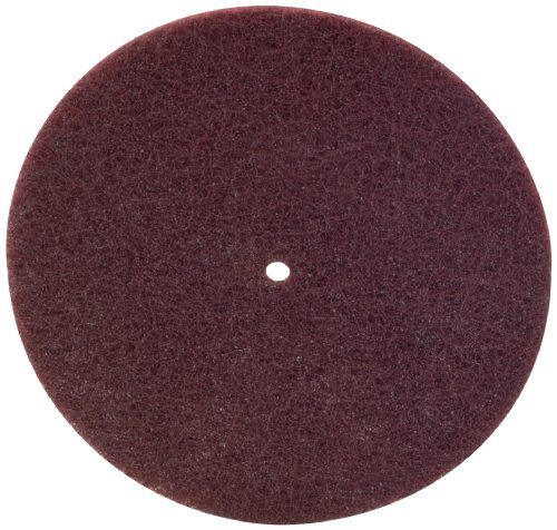 Scotch-Brite(TM) Light Deburring Disc, Aluminum Oxide, 6 Diameter, 1/2 Arbor, A Very Fine Grit (Pack of 100)