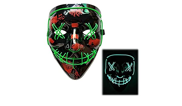 JINRU LED de Halloween máscara del Partido del Traje de ...