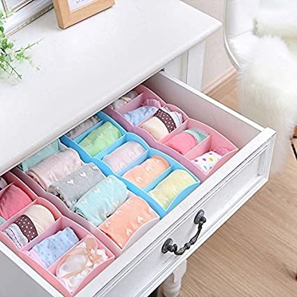 Shopline One Piece Organizer Storage Box 5 Cells Plastic Drawer Divider for Tie Bra Socks  sc 1 st  Amazon.com & Amazon.com: Shopline One Piece Organizer Storage Box 5 Cells ...