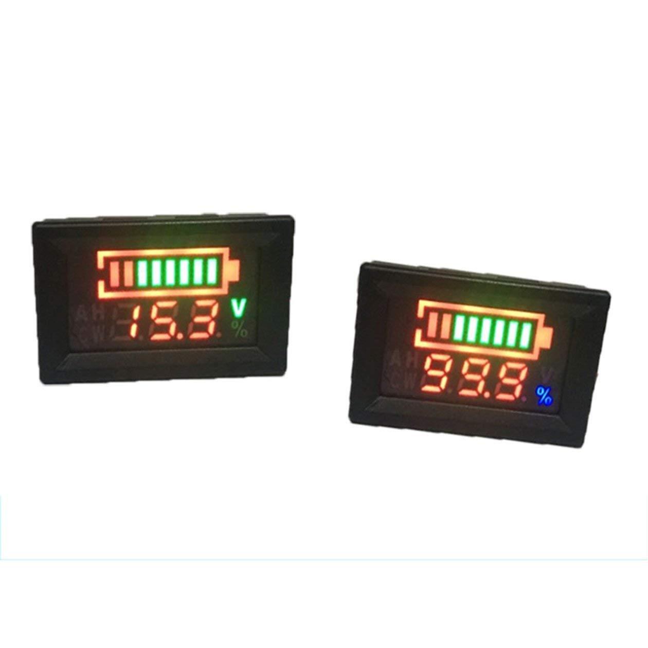 6-100 V Voltmetro a doppio display LFP Batteria Percentuale Tensione digitale Misuratore di potenza Connessione anti-inversione colore: nero