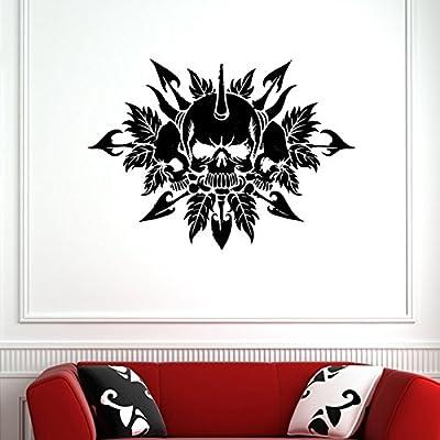 Etiqueta engomada de Halloween del cráneo Punk Death Decal Diablo ...
