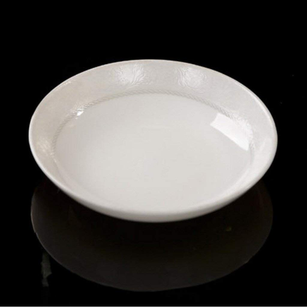 Vvlo Kitchen Home 7.5 Inches Bone China Home Soup Bowl Fish Plate Soup Basin Dish Dish Simple and Practical by Vvlo