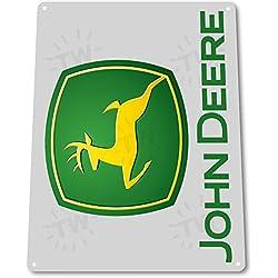 "TIN SIGN ""John Deere"" Tractor Auto Shop Farm Tools Equipment Store Garage B088"