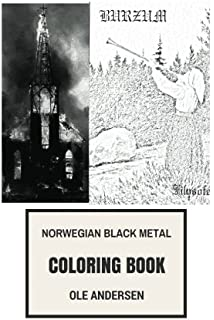Satanic Metal Coloring Book Norwegian Black Metal And Antichrist