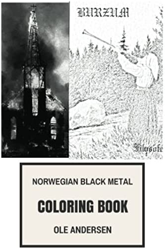 Norwegian Black Metal Coloring Book Satanic Music And